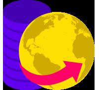 Data Worldwide Icon - LisTedTECH